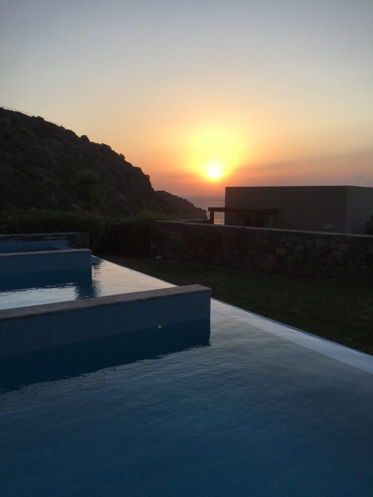 Daios Cove luxury resort and villas Crete, Greece Sunrise, lever du soleil