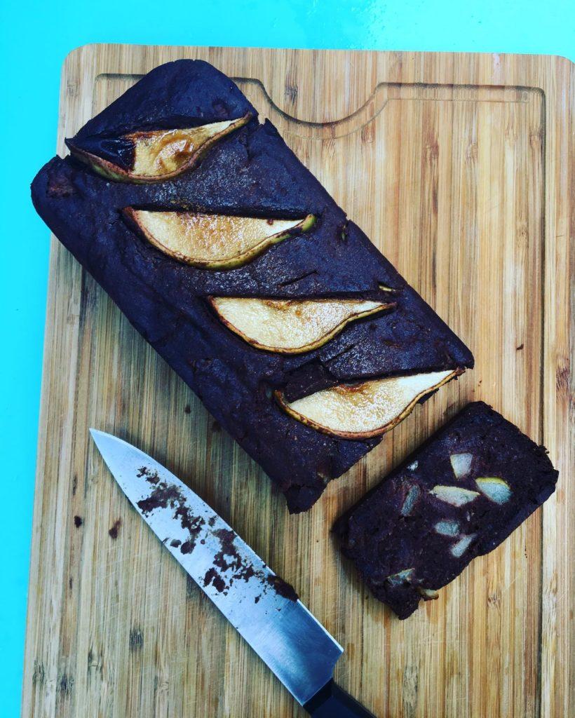 Gateau chocolat noir poires sans gluten sans lactose