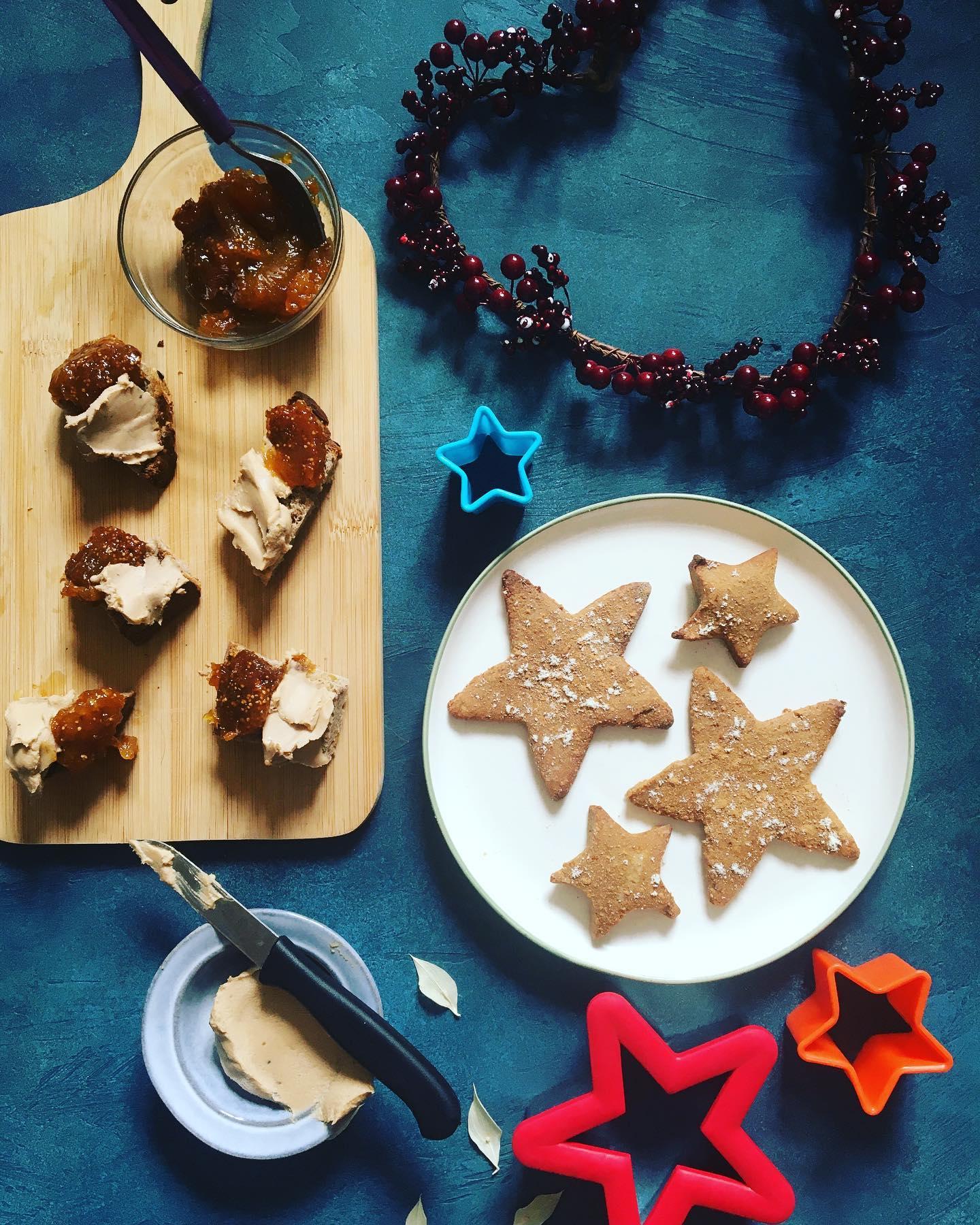 Christmas cookies and Foie gras 'faux gras'