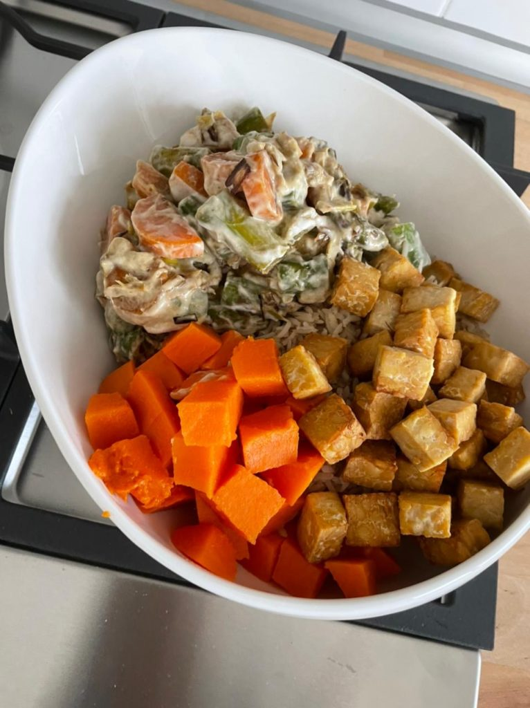 Red Thai Veggie Curry with Tempeh